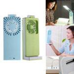 Оригинал ПортативныйстолЛампа2В1 USB-вентилятор с перезаряжаемым охлаждением Электрический ручной мини-вентилятор