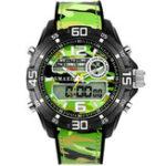 Оригинал SMAEL1077МужчиныВоенныйСветящиесядвойные Дисплей цифровые часы