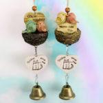 Оригинал LovelyBirdsWindChimesBellСад На открытом воздухе Yard Home Decor Настенные подвесные украшения Птичье гнездо