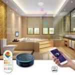 Оригинал ARILUX® 24W RGBCCT Wifi Дистанционный Голосовое управление Bluetooth Динамик LED Поддержка потолочного освещения Alexa