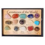 Оригинал Рок-коллекция Mix Gems Crystals Natural Teaching Mineral Ore Specimens Decoration Коробка