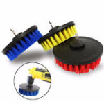 Оригинал 5 дюймов Красный / желтый / синий щетина электрический Дрель Щетка Очистка Щетка для удаления пыли