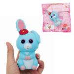 Оригинал Long Ears Rabbit Squishy 12 * 6 * 6.5CM Медленный рост с подарком коллекции упаковки Soft Toy