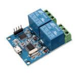 Оригинал LCUS-2 двухканальный USB-релейный модуль USB Intelligent Control Switch