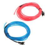 Оригинал DC 12V 2M Blue Red Neon Light Glow EL Провод String Strip Веревка Трубка + Авто Прикуриватель