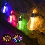 Оригинал Батарея Powered 1.8M 10 LED String Light Bulb Лампа Bead На открытом воздухе Свадебное Fairy Лампа для домашнего декора