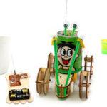 Оригинал DIY Обучающие Электрические 4CH Jumper Робот Авто Научные Изобретения Игрушки