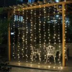Оригинал 3M * 3M 8 Режимы Батарея Управляемый USB Свадебное Drape LED String Light Christmas Birthday Party Decor