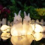 Оригинал 1.65M10LEDsLovelyRabbitБатареяPowered String Ночные огни для рождественского фестиваля Домашние декорации в помещении и На открытом возду
