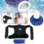 Оригинал ЛедГельПакетГорячаяхолоднаятерапия Обертывание плечевых травм Распутывание мышц Боли в суставах Синяя черная ткань Пле
