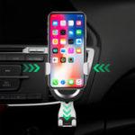 Оригинал 2 in 1 Gravity Auto Замок Авто Air Vent 7.5W Быстрое беспроводное зарядное устройство для мобильных устройств с поддержкой Qi