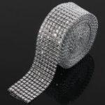 Оригинал Свадебное Алмазная сетка Ролл Игристые кристаллы горного хрусталя