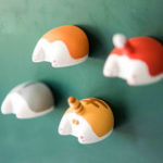 Оригинал ХолодильникМагнитМаленькийсериалдляживотных Butter Stereo Магнит Креативный холодильник Cute Home Decorations