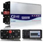 Оригинал DC 12-48V до AC 110V 10000W Преобразователь инвертора синусоидальной волны с изменяемым пиком с LCD Дисплей