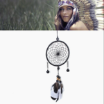 Оригинал Handmade Black Bell Dream Catcher с черными перьями Таинственный подарок Bell Bell Home Decor Handmade Feather Wall Hanging Decorations Ornament