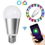 Оригинал E27 7W RGBW WiFi APP Control Smart Light Bulb Работа с Alexa Google Главная AC110-240V