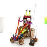 Оригинал DIY Обучающие Электрические 2CH Jumper Робот Авто Набор Научные Изобретения Игрушки
