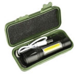 Оригинал XANES 1517B XPE + COB Dual Lights 1000Lumens Zoomable USB аккумуляторная EDC Tactical LED Фонарик Костюм