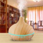 Оригинал Внутреннее300ммДеревоЗерноАвтоматическое отключение 7 цветов Светодиодный Essential Масло Aroma Диффузор Воздухоочиститель BAP&nbs