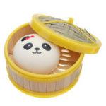 Оригинал 1Pc Пароватый хлеб Squishy 10CM Медленный Rising Collection Gift Soft Игрушка с крышкой для пароварки