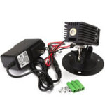 Оригинал 532nm 50mW Зеленый Лазер Локатор линейной маркировки с адаптером вентилятора Лазер Модуль