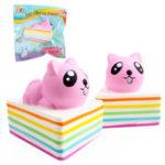 Оригинал Sanqi Elan Triangle Rainbow Кот Squishy 13 * 10 * 10.5CM Медленный рост с подарком коллекции упаковки