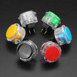 Оригинал 24 мм Черный Красный Желтый Синий Зеленый Белый Кнопка для игрового консольного контроллера DIY