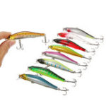 "Оригинал ZANLURE 1pc 80mm / 3.15 ""8.5g Магнит Minnow Рыбалка Lure Artificial Hard Bait Крюк 3D Eyes Sea Рыбалка"