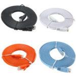 Оригинал 5M Cat-6 RJ45 Плоский Ethernet Сетевой кабель Кабель LAN для ПК Router