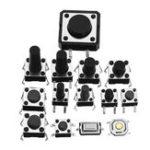 Оригинал Всего 360pcs Tactile Tact Mini Push Button Switch Пакет Micro Switch Сумки 12 типов Каждые 30pcs SMD / 2/3 / Боковые штыри / Горизонтальные