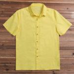 Оригинал PlusРазмерльняногохлопкаBreatahbleComfy Loose Men Shirts