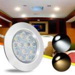 Оригинал DC12V 3W 12 LED Светильник для шкафа Spot Cabinet Лампа Для Transporter Van Лодка Авто RV