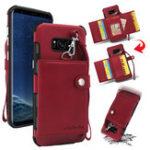 Оригинал BakeeyКошелекзащитныйЧехолсремешком для Samsung GalaxyS8Plus PU кожаные слоты для карт карманные