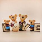 Оригинал 4pcs/setLoveCartonTeddy Bear смола Кукла Украшение для дома Украшение для дома Украшения для дома Украшения для мультфильмов Bears Car Кукл