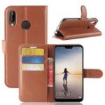 Оригинал BakeeyLitchiFlipКошелеккартыгнезда кронштейн PU кожа защитная Чехол для Huawei P20Lite