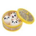 Оригинал 3Pcs Хлеб Squishy 7CM Медленный Rising Collection Gift Soft Игрушка с крышкой для пароварки
