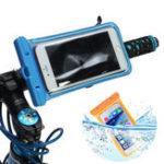 Оригинал Универсальный IPX8 Водонепроницаемы Экран с сенсорным экраном с отражательной полосой Сумка Держатель для велосипедов Bike Bicycle Handlebar