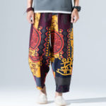 Оригинал Ethnic Style Printed Loose Wide Leg Pants