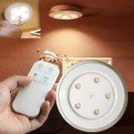 Оригинал 5 LED Перезаряжаемый Дистанционное Управление Свет в шкафу Время, сидящая на ногах Лампа Шкаф для одежды