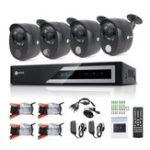 Оригинал Anni 4 Channel 1080N Видеорегистратор Видеорегистратор для видеонаблюдения с защитой от 1080P Проводной инфракрасный порт камера Встроенный газ Дат