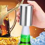 Оригинал HonanaСтакандляпиваизнержавеющей стали Автоматическая пивная бутылка содовой