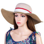 Оригинал Женское На открытом воздухе Multicolor Пляжный Sunshade Straw Шапка