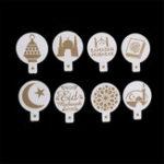 Оригинал 8Pcs/SetРамаданИдМубарак Тематический пирог с пирожными с тортами Исламский праздник Дизайн Торт-декорации