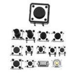 Оригинал Всего 600pcs Tactile Tact Mini Push Button Switch Пакет Micro Switch Сумки 12 типов Каждые 50шт SMD / 2/3 / Боковые штырьки / Горизонтальные