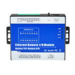 Оригинал M420T Modbus Relay Module TCP Ethernet Дистанционный Модуль сбора данных IO (RS485 + 16DO)