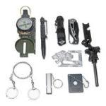 Оригинал 10 в 1 комплектах для выживания SOS Emergency Survival Набор Kit Emergency SOS Survive Инструмент