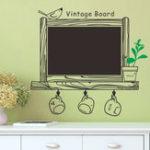 Оригинал СъемнаястикерстеныКухняChalkBoardнаклейка Decal Decor черныйboard Bird Sticker Decorations
