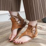 Оригинал USРазмер5-12РоманСандалииФиолетовый плоский ботинок