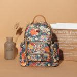 Оригинал BreniceЖенскоеПечатьрюкзакОксфордбольшой емкости Цветочный рюкзак Женское Повседневный путешествия Сумка