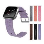 Оригинал Холст Часы Стандарты Ремень с пряжкой Коннектор Замена браслет для Fitbit Versa
